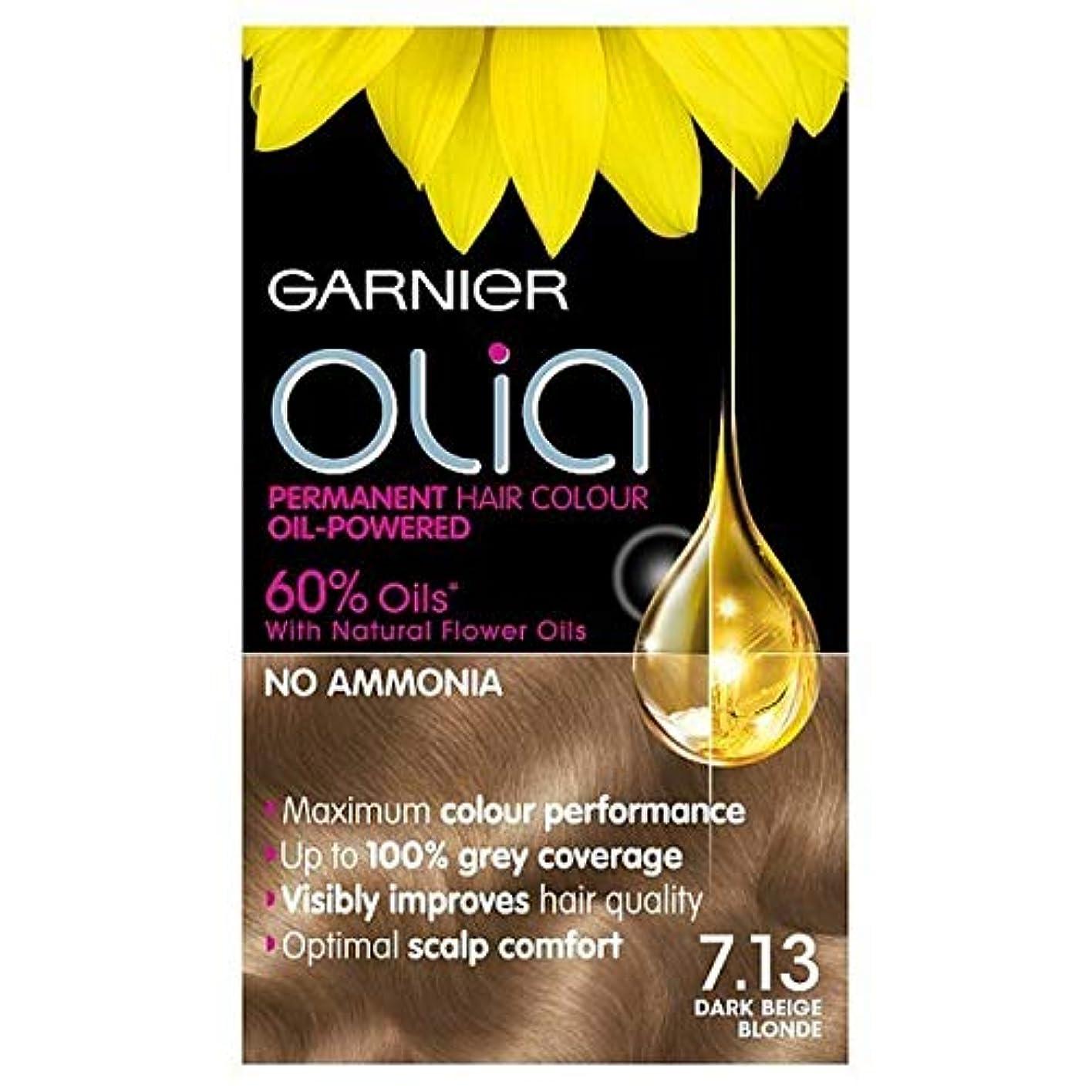 望ましい賃金盲信[Garnier ] 7.13ダークベージュブロンドガルニエOliaパーマネントヘアダイ - Garnier Olia Permanent Hair Dye Dark Beige Blonde 7.13 [並行輸入品]