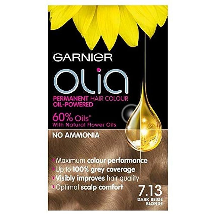 ビヨンキャロライン爪[Garnier ] 7.13ダークベージュブロンドガルニエOliaパーマネントヘアダイ - Garnier Olia Permanent Hair Dye Dark Beige Blonde 7.13 [並行輸入品]