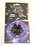 Amazon.co.jp光る靴ひも フラッシュ ストリング(レッド/ブルー) LED ランニングシューズ くつ紐 夜間ウォーキング、犬の散歩