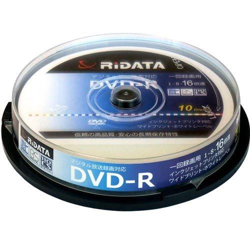 RiDATA 録画用DVD-R 120分 ホワイトワイドプリンタブル スピンドルケース D-RCP16X.PW10RD D 1パック 10枚