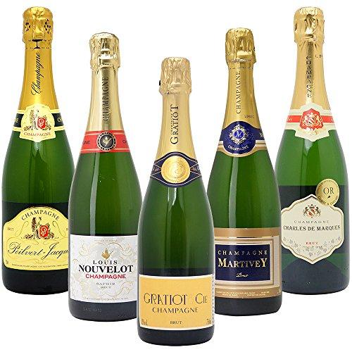 高コスパ・高品質シャンパン5本セット((W0CG01SE))(750mlx5本ワインセット)