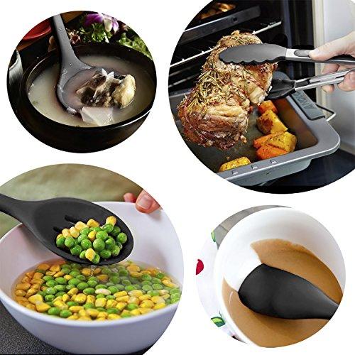 キッチン用品 シリコン 耐熱 台所用品 料理 製菓 調理器具セット おしゃれ キッチンツール 10セット(黒い)