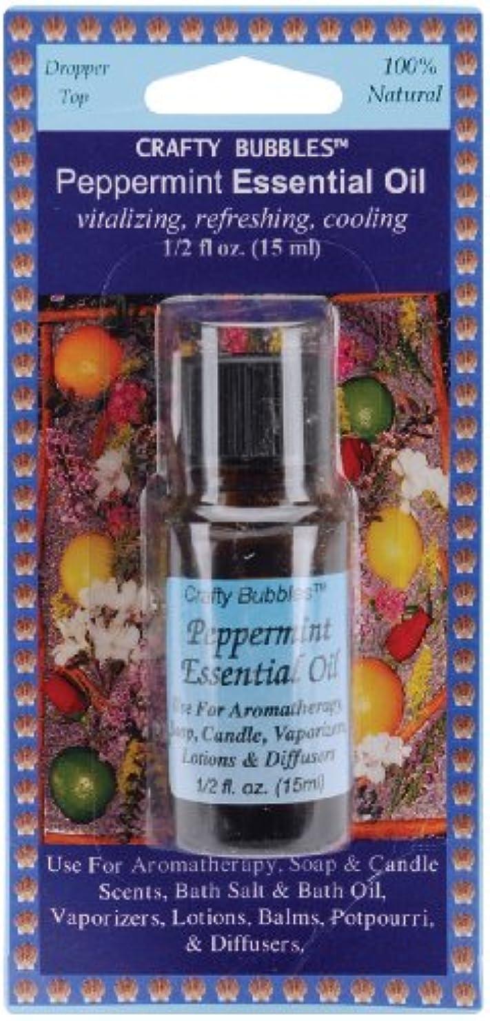 興味危険にさらされているレタッチEssential Oils .5oz Bottle-Peppermint (並行輸入品)