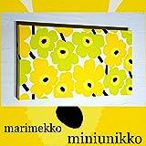 ファブリックパネル アリス marimekko miniunikko ミニウニッコ 40×22×2.5cm 単品販売 イエロー×グリーン マリメッコ 【同梱可】