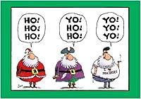 Yo Yo YoクリスマスJokeカード 12 Christmas Card Pack (SKU:B1544)