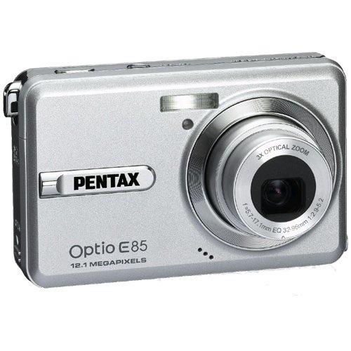 PENTAX デジタルカメラ Optio E85 シルバー 1210万画素 光学3倍 16連写 充電器不要の本体充電 OPTIOE85SL