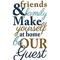 Amscan Friends & Family Disposable 2 Ply Paper Guest Towels Tableware (16 Piece), 20cm x 11cm , Gold/Navy/Grey
