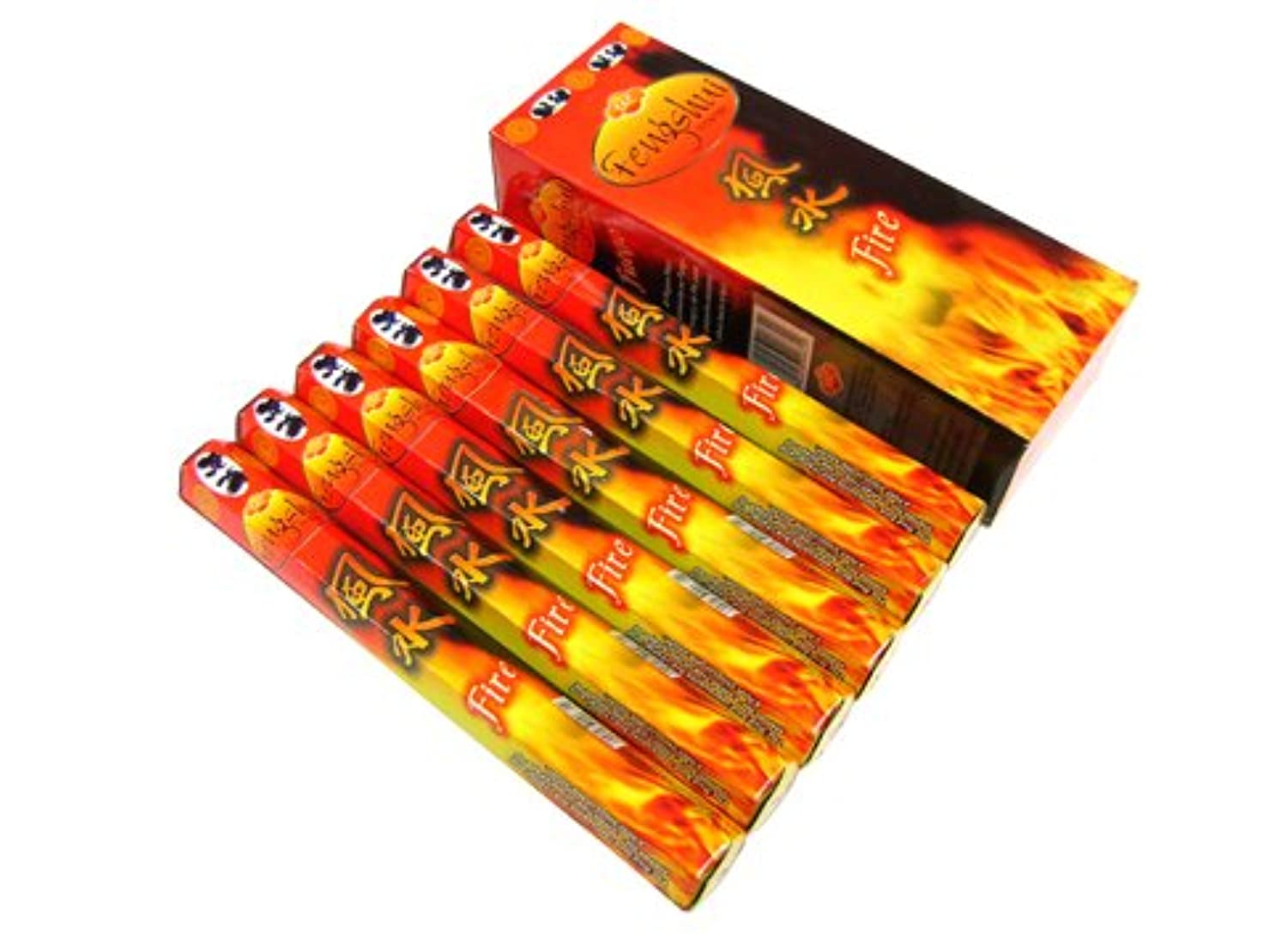 上昇他の場所スリンクSANDESH SAC (サンデッシュ) 風水香(ファイヤー) スティック FENGSHUI FIRE 6箱セット