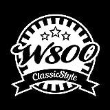W800 Classic Style カッティング ステッカー ホワイト 白