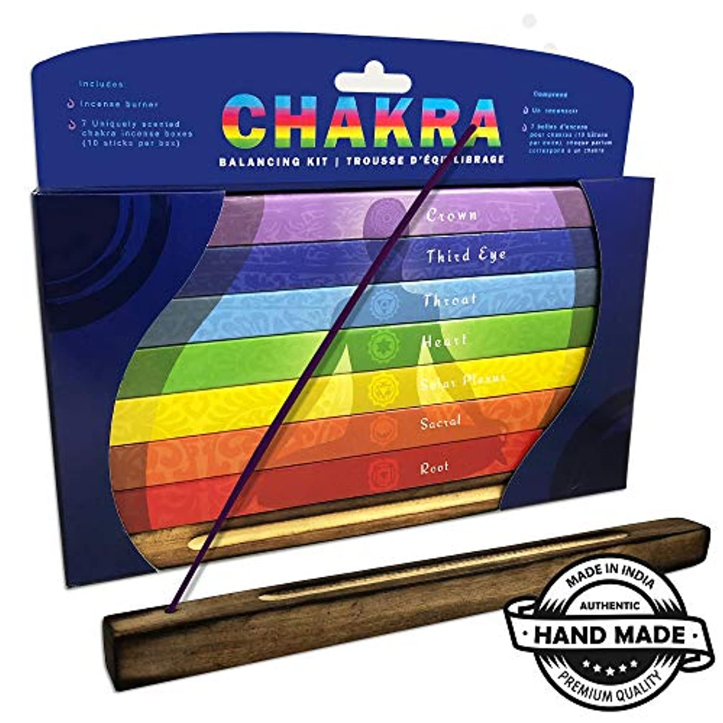 所属シャトルうめきChakra & Luck プレミアムインセンススティック | クラウンからルートまで7つのチャクラ | 70スティックセットギフトパック | ヒーリング ヨガ 瞑想 アロマセラピーに最適なバランスのお香