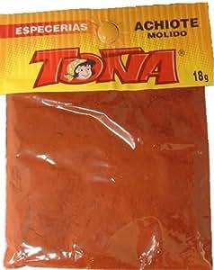 【TONA ACHIOTE MOLIDO】アチョーテ(ベニノキ)粉末 18g小袋 (トーニャ) ペルー産 メール便送料¥82