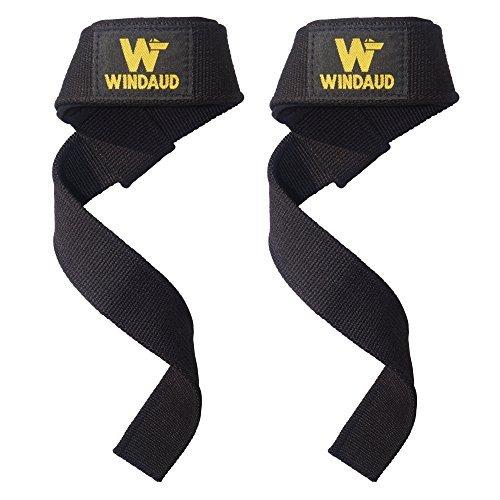 WINDAUD 筋トレ リストストラップ - プロ リフティングストラップ - 手首 リストラップ - サイズ57cm x 3.7...