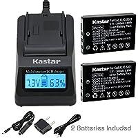 Kastar充電器、バッテリーfor klic-5001–2klic-5001K5001