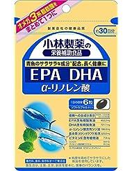 小林製薬の栄養補助食品 EPA DHA α-リノレン酸 約30日分 180粒×3個