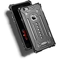 Apple 7 金属フレーム iPhone 7 iPhone7 plus7に対応 個性的メタルバンパーカバー ケース 金属製 耐衝撃 (iPhone 7, ブラック)