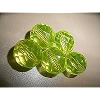 とてもキレイなウランガラスのビーズ(14ミリ)1粒。 紫外線で発光します