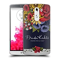 Official Frida Kahlo ブルーム レッド・フローラル ソフトジェルケース LG G3 / D855 / D850 / D851