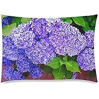 可愛い 子供 紫色のあじさい 座布団 50cm×72cm