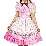 8mm ピンク お花柄 胸元フリル ジャンパースカート レディースサイズ Mサイズ