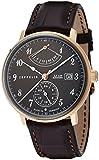 [ツェッペリン]ZEPPELIN 腕時計 ヒンデンブルク ブラック文字盤 自動巻 裏蓋スケルトン デイト 70642 メンズ 【正規輸入品】