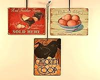 チキンテーマメタルSignaments、休日、Roosters、卵