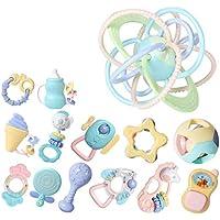 ベビーラトルテザーのおもちゃセット、ラトル赤ちゃんの新生児の最初のセットのおもちゃ ( Color : C )