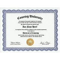 Canoeing Canoe Degree: Custom Gag Diploma Doctorate Certificate (Funny Customized Joke Gift - Novelty Item) by GD Novelty Items [並行輸入品]