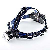 夜の屋外キャンプ釣り充電式LEDヘッドマウント懐中電灯SOS防水ヘッドライト