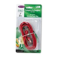 CAT5e Snagless Patch Cable, RJ45 Connectors, 7 ft., Red (並行輸入品)