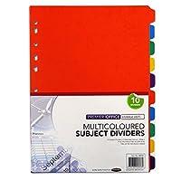 a4Multi ColouredカードSubjectディバイダー–10のパック、サイズ11.7X 8.9