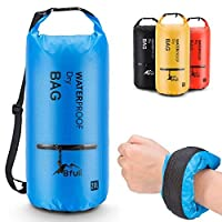 (40L, Blue) - BFULL Waterproof Dry Bag 10L/20L [Lightweight Compact] Roll Top Water Proof Backpack with 2 Exterior Zip Pocket for Kayaking, Boating, Duffle, Camping, Floating, Rafting, Fishing