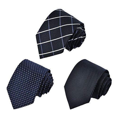 Tarudol.R ネクタイ メンズ ビジネス 洗える ネクタイ 3本セット人気 チェック柄 小紋 格子 ストライプ ド...