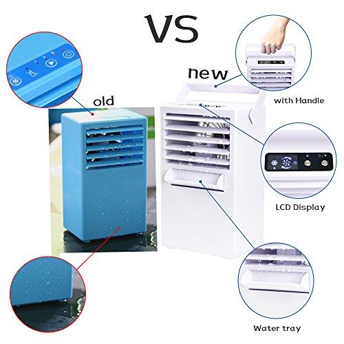 Madoatsミニポータブルエアコンコンパクト冷風機卓上扇風機小型クーラー空気サーキュレーター加湿器ミスト冷風扇(アップグレード版)