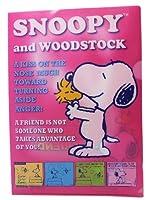 ピンクSnoopy and Woodstock Best Friendsフォルダポートフォリオ