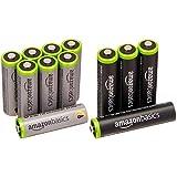 Amazonベーシック 充電池 高容量充電式ニッケル水素電池単3形8個パック(充電済み、最小容量 2400mAh、約500回使用可能) &  充電池 充電式ニッケル水素電池 単4形4個パック (最小容量750mAh、約1000回使用可能)