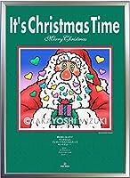クリスマス・アートポスター 水氣隆義オリジナル (Xmas Time-Santa) ・A2判(42.0×59.4) フレーム入り・MC画材用紙・ジクレー版画
