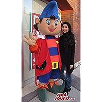大きなドワーフマスコットはとんがり帽子と青と赤服でカナダをSpotSound