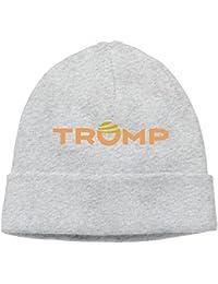 Rahaka ラハカ ドナルド トランプ 米大統領 英字 ロゴ 大人 ヘッジキャップ ニット帽子 ストリート 大人気 グレー One Size