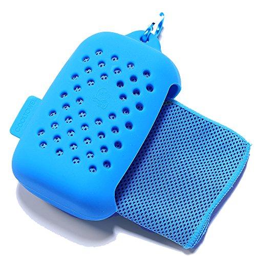 HYSY冷感タオル 速乾スポーツタオル 収納しやす 透気性が高いシリコン製収納袋が付く 急速冷却 さわやかな冷感 超吸収 超軽量 抗菌 UVカット 熱中症対策 日本語取扱説明書