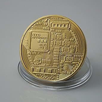 ビットコイン BitCoin 仮想通貨・暗号通貨×2枚 ゴールド&シルバー 保証書付き