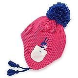 帽子 子供用 耳あて付き ニット帽 フリース BEADYGEM 日本製 キッズ Animalリブボンボン耳あて付きニット帽 桃
