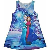 Disney Frozen Little Girls' Anna and Elsa Sublimated Tank Dress