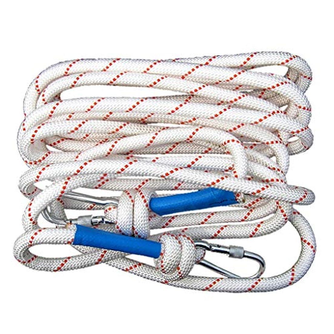 グリース鎮痛剤草クライミングロープ スチールコア12 mmホワイトナイロンマルチサイズオプション安全ロープ(破断力758 kg) (色 : 16mm/40m)