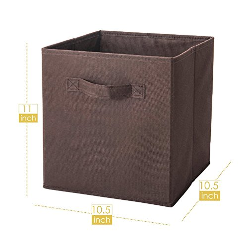 Orange ボックス インナーボックス 幅27×奥行27×高さ28㎝ 6個セット (ブラウン)