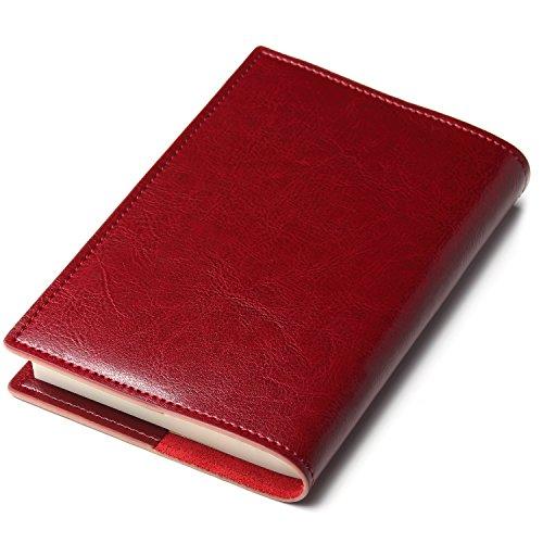 seyococogi ブックカバー 本革 A6サイズ 文庫本サイズ (ワインレッド)
