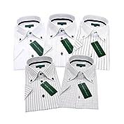 グリニッジ ポロ クラブ 半袖ワイシャツ 5枚セット 形態安定 豊富な7サイズ