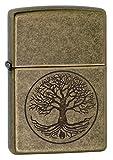 ZIPPO 木#29149 TREE OF LEFE アンティークブラス