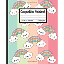Rainbow Composition Notebook:: Wide Ruled Paper Notebook Journal   Nifty Wide Blank Lined Workbook for Teens Kids Students Girls for Home School College for Writing Notes.