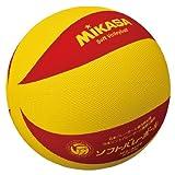 ミカサソフトバレーボールイエローレッド 小学校ソフトバレーボール試合球 1~4年生用 MS-M64-YR