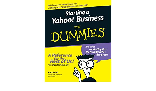 amazon starting a yahoo business for dummies for dummies series